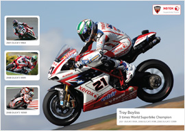 Troy Bayliss Commemorative Poster
